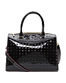 Made In Italy Python Patent Leather Satchel