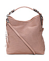 Made In Italy Web Perforated Leather Hobo