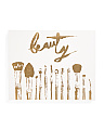 20x16 Beauty Brushes Canvas Print