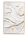 24x36 Greige Abstract Framed Canvas Wall Art