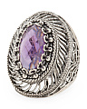 Made In Turkey Sterling Silver Amethyst Filigree Ring