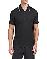 Jacquard Polo With Tipped Collar