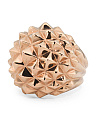 Made In Thailand 18k Rose Gold Plated Sterling Silver Superstud Ring