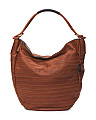 Made In Italy Multi Stripe Leather Hobo