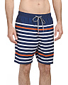 Printed Stripe Swim Trunks