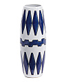 Tribal Print Ceramic Vase
