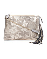 Made In Italy Flower Perforated Leather Crossbody