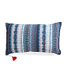 14x24 Greek Shibori Pillow With Tassels