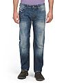 Larkee Distressed Straight Jeans