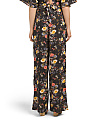 Juniors Printed Wide Leg Pants