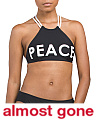 Peace High Neck Bikini Top