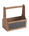 Large Stained Wood Organizer With Handle