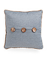 20x20 Jute Rope Button Pillow