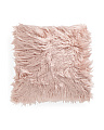 26x26 Oversized Faux Mongolian Fur Pillow