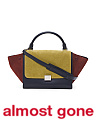 Made In Italy Small Trapeze Multicolor Leather Satchel