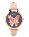 Women's Butterfly Dial Watch
