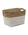 Medium Seagrass Raffia Hamper