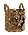 Small Seagrass Basket With Fringe