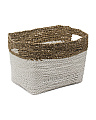 Small Seagrass Raffia Hamper