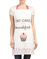 Eat Cake For Breakfast Printed Cotton Duck Apron