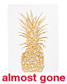 Metallic Pineapple Canvas Wall Art