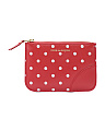 Made In Spain Mini Polka Dot Printed Leather Pouch