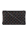 Made In Italy Studded Leather Clutch