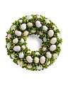 17in Easter Egg Wooden Flower Wreath