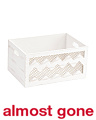 Small Chevron Wire Wood Bin