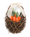 18in Twig Carrot Filled Wall Basket