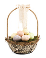 12in Basket With Eggs