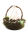 18in Twig And Moss Spring Egg Basket