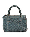Made In Italy Woven Leather Satchel