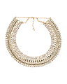 Gold Tone And Crystal Collar Necklace