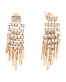 Gold Tone And White Shaky Drop Earrings