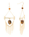 Gold Tone Safari Sands Ringe Earrings
