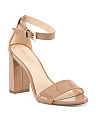 Block Heel With Ankle Strap Sandals