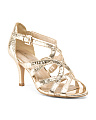 Strappy Metallic Sandals