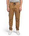 Harrison Flat Front Stretch Twill Joggers