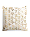 20x20 Paisley Stamp Damask Pillow