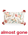 Made In India 14x24 Bird Pillow With Pom Poms