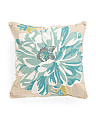 20x20 Abelie Floral Chainstitch Pillow