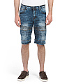 Moto Denim Shorts