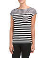 Mixed Stripe Dolman Top