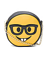 Nerd Face Emoji Camera Bag