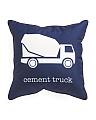 Kids 17x17 Cement Truck Pillow