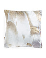 18x18 Velvet Royal Feathers Pillow