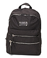 Large Zippered Nylon Backpack