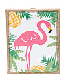 Flamingo Burlap Wall Decor