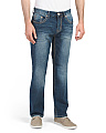Stretch Straight Leg Denim Jeans